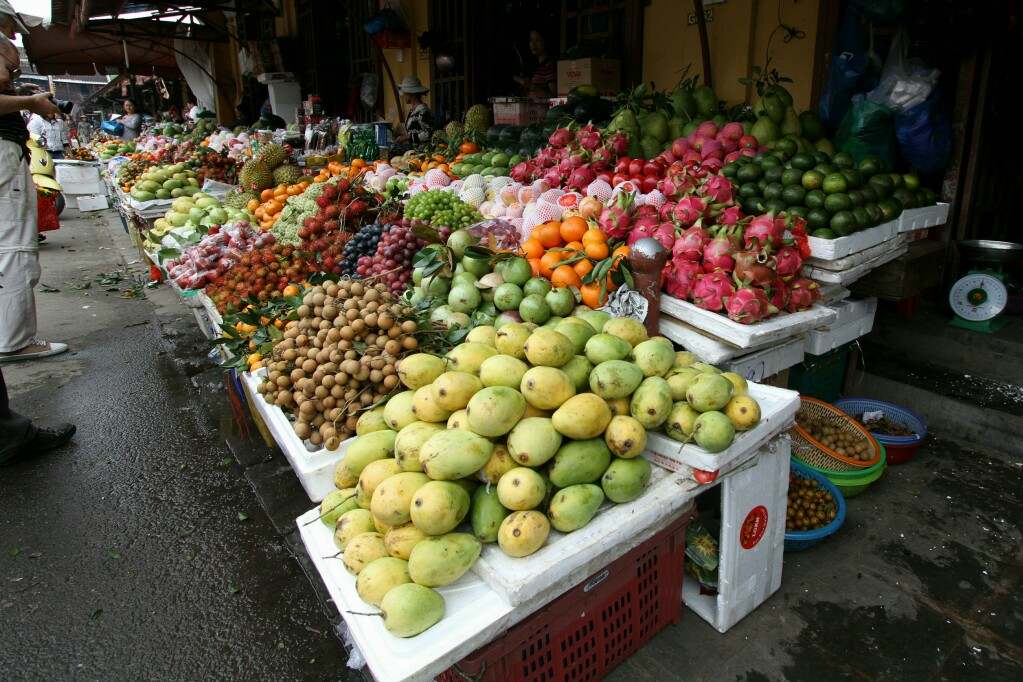 Obststand Markt, Hoi An