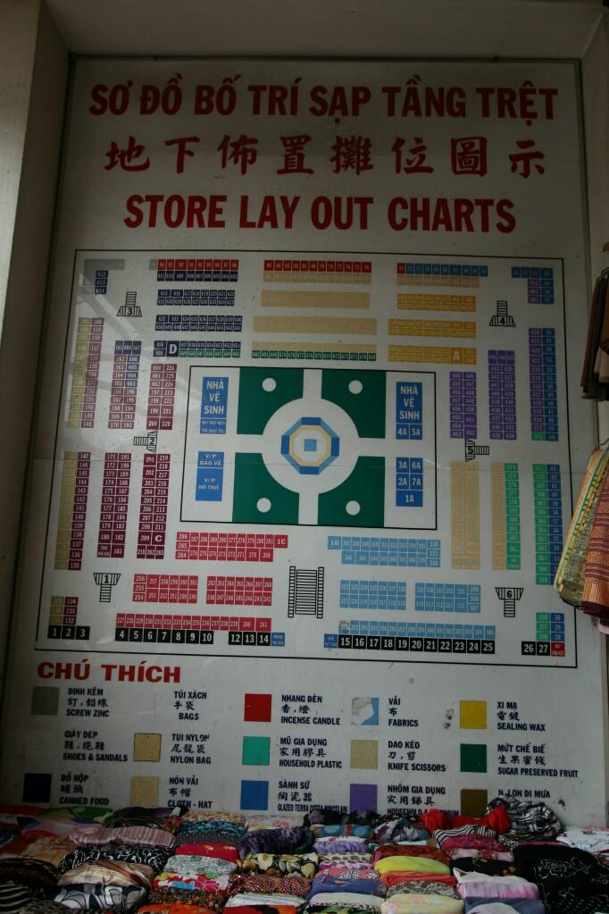 Übersichtskarte Cho Binh Tay Markt