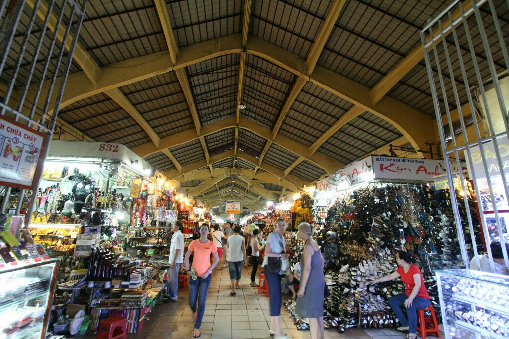Cho Ben Tranh Markt von innen