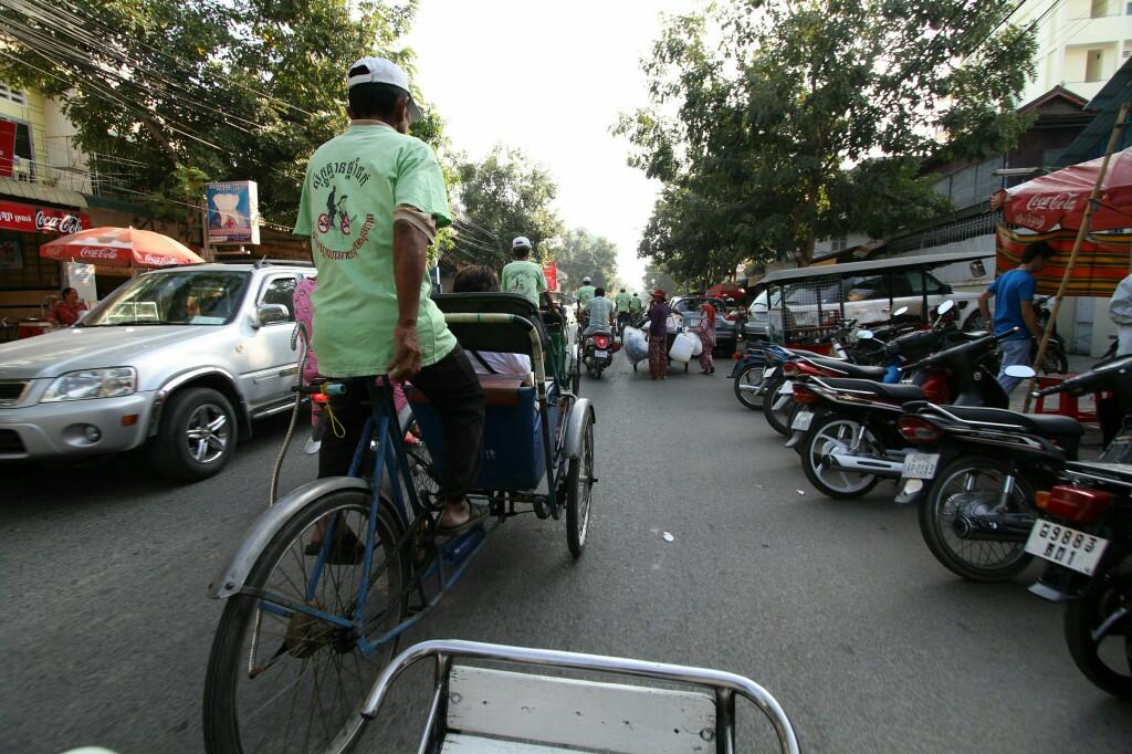 Fahrt mit Fahrradrikscha