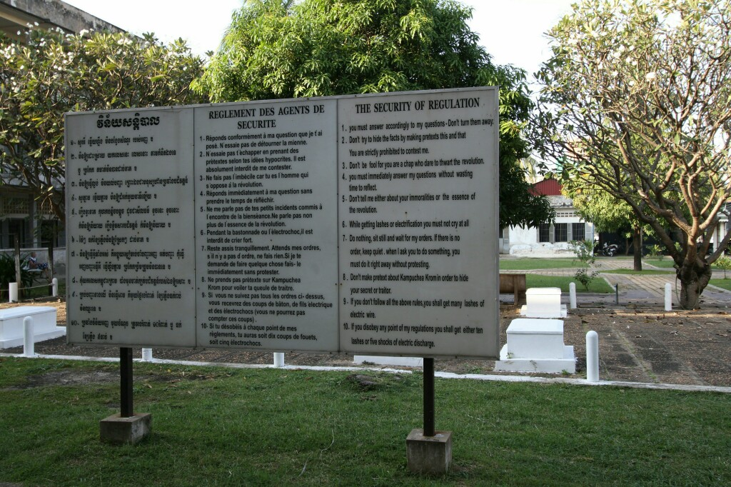 Tuol Sleng Sicherheitsregeln