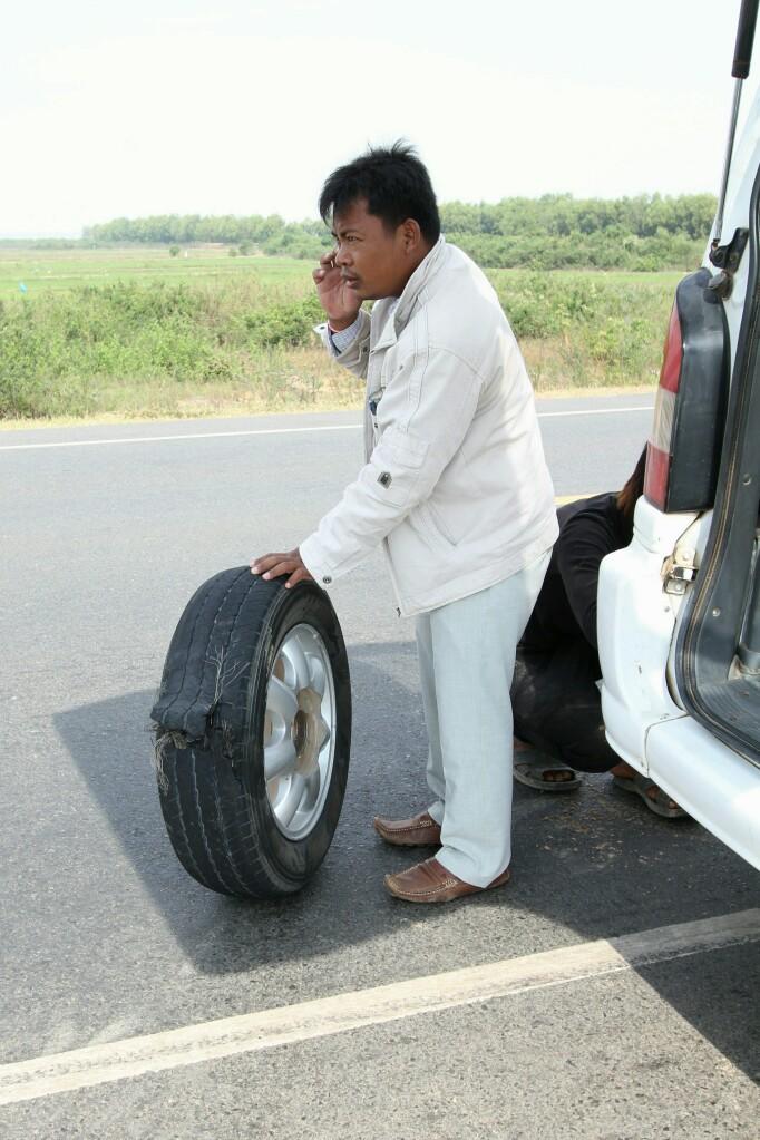 Geplatzer Reifen