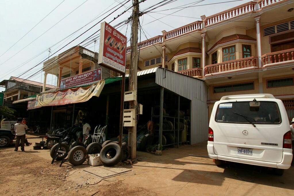 Reifenservice in Kambodscha