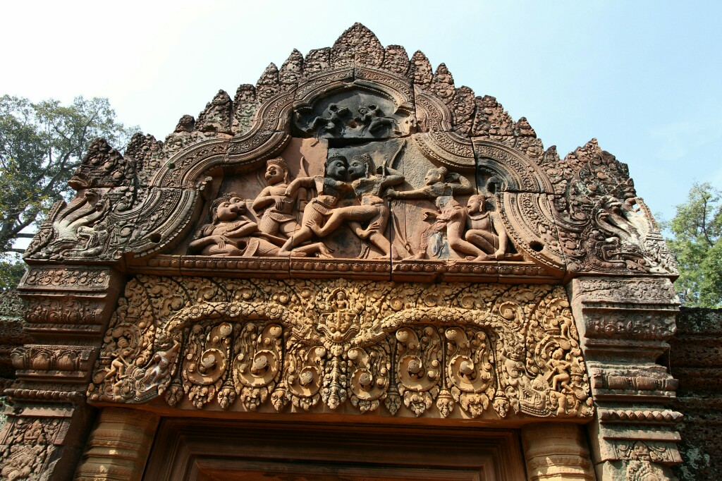 Reliefs am Banteay Srei