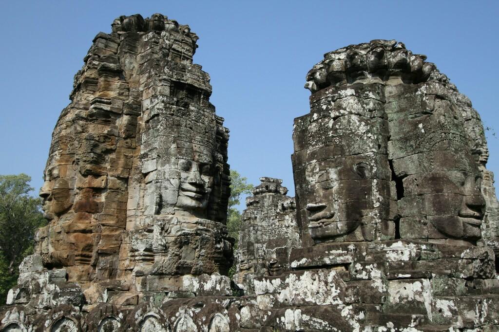Gesichtstürme Bayon Tempel