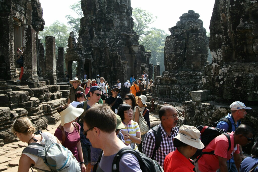 Besucherandrang Bayon Tempel