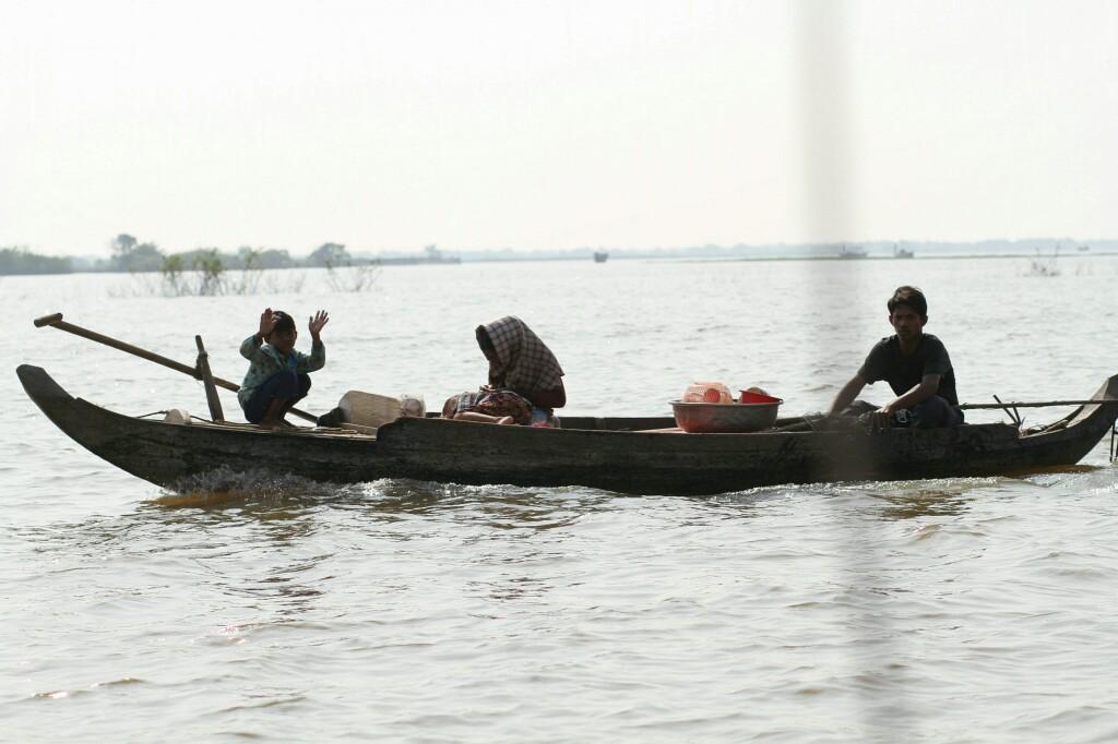 Freundliche Kambodschaner