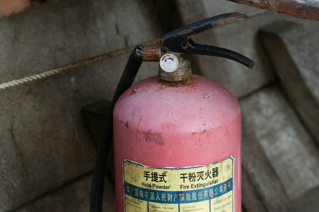 nicht funktionierender Feuerlöscher